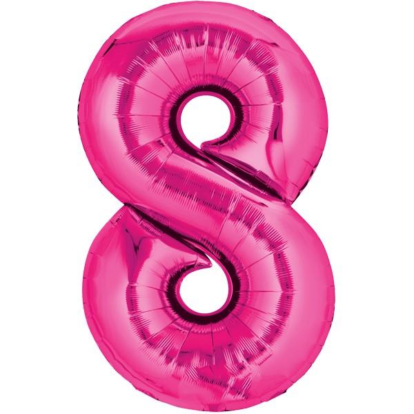 Zahlenballon XXL Pink 8