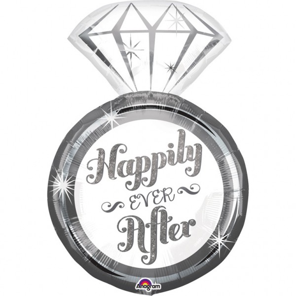 """Happily Ever After - Ring"" Folienballon"