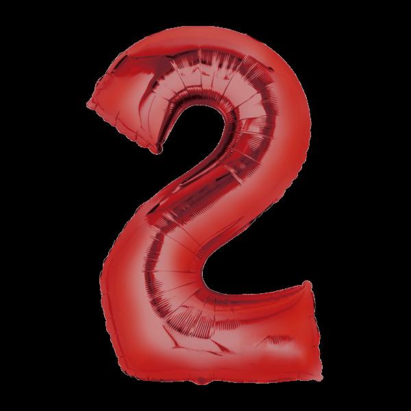 Zahlenballon XXL rot 2