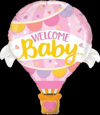 """""""Welcome Baby"""" Rosa Folienballon"""