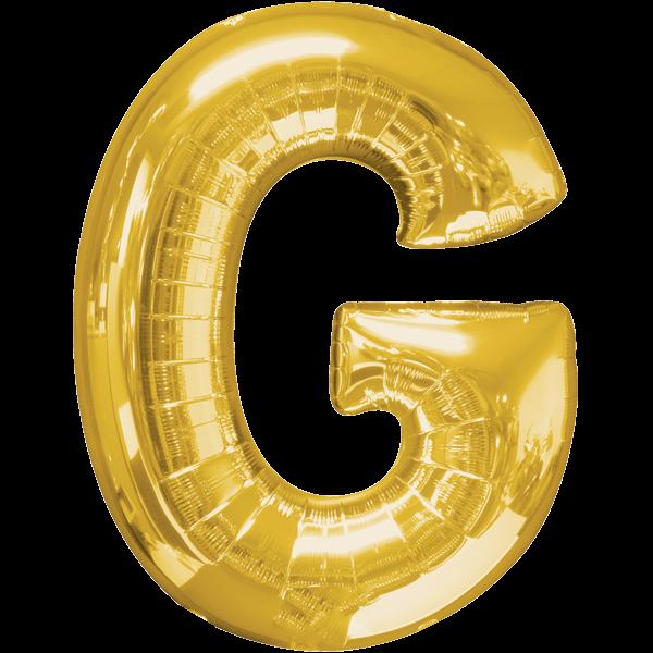 """Buchstabe """"G"""" Gold Folienballon"""