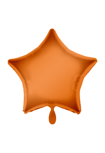 Stern Orange Folienballon