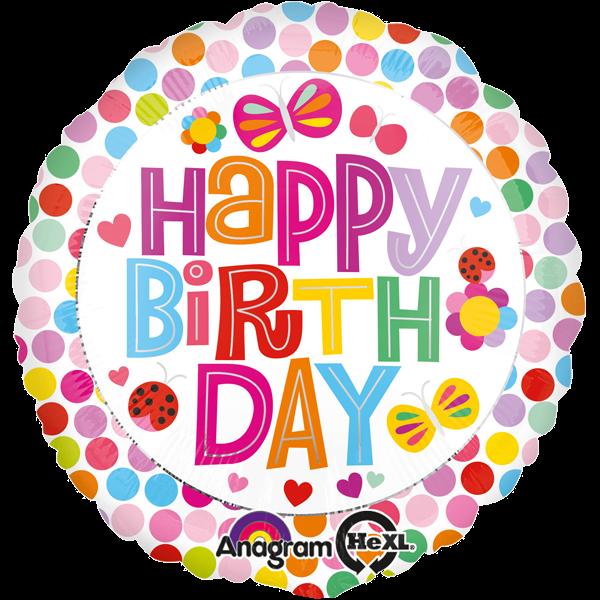 """Happy Birthday"" Geburtstags-Folienballon bunt"