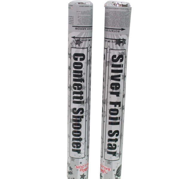 Konfettikanone - Silber Stern