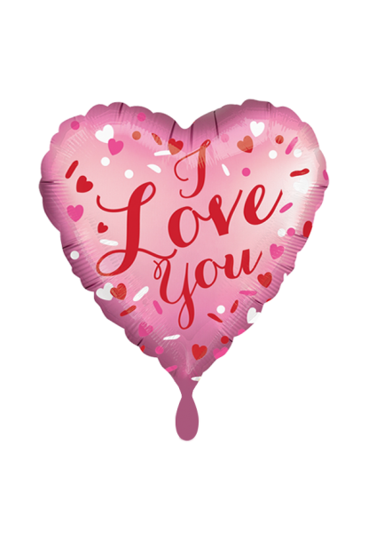 "Satin herzförmig ""I Love You"" Folienballon"