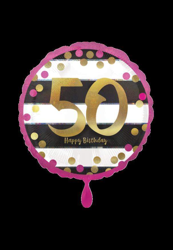 Pink & Gold Milestone 50 Folienballon