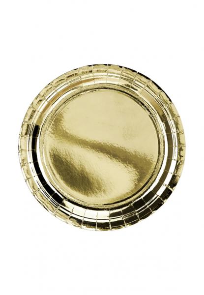 Pappteller Gold Trend