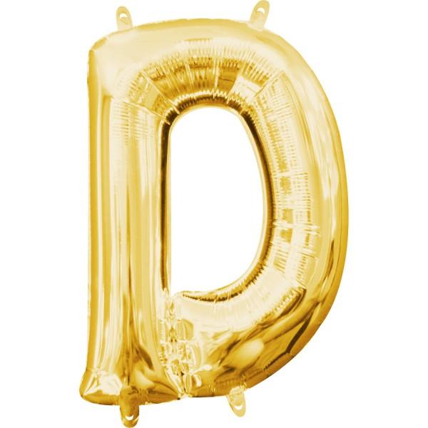Buchstabe D Gold Folienballon