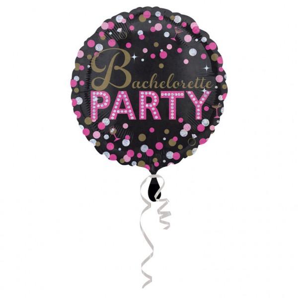 """""""Bachelorette Party"""" schwarz-pink Folienballon"""
