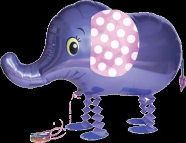 Air Walker - Lila Elefant - Folienballon