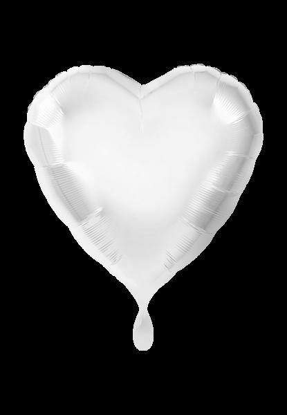 Herz Weiß Folienballon