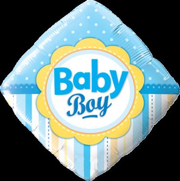 Baby Boy Dots und Dragonfly Folienballon Diamant