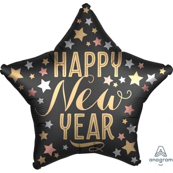 New Year im Satin-Look Folienballon