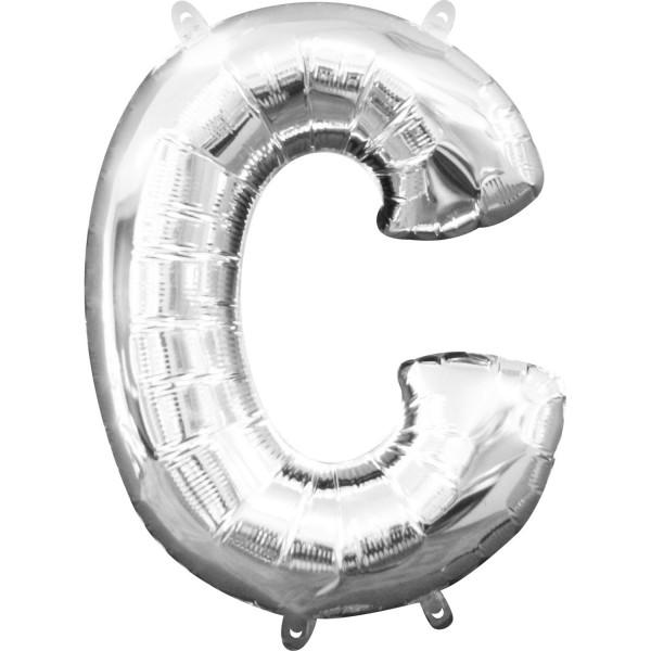 Buchstabe C Silber Folienballon