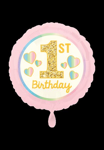 """Mädchen """"1. Birthday"""" Pink & Gold"""