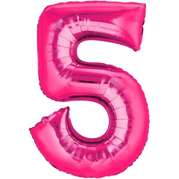 Zahlenballon XXL Pink 5