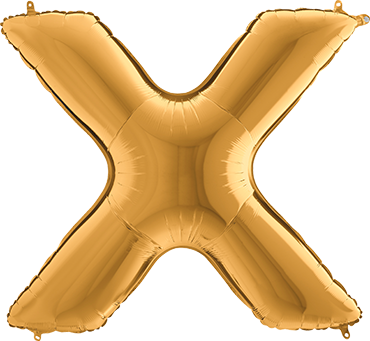Buchstaben Ballon Gold XXL X
