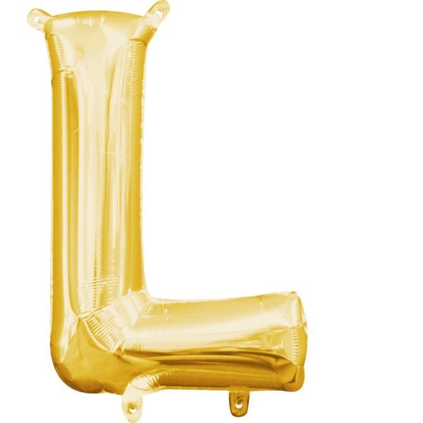 Buchstabe L Gold Folienballon