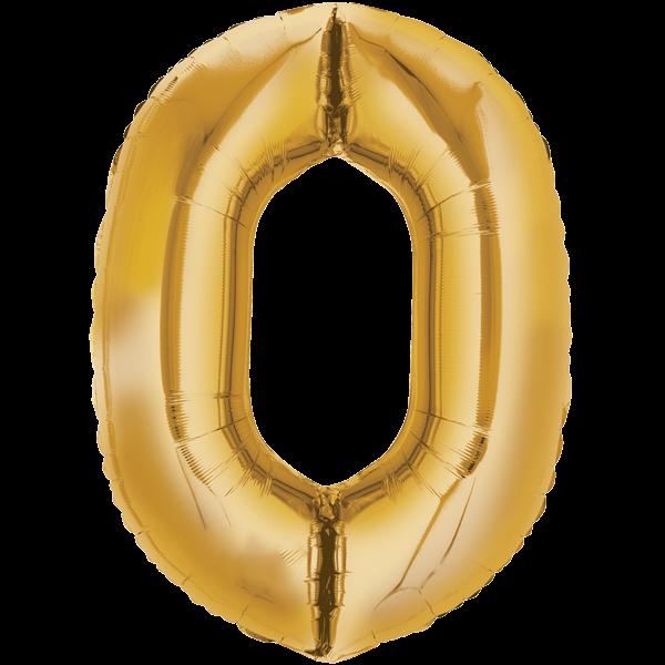 Zahlenballon XXL Gold 0