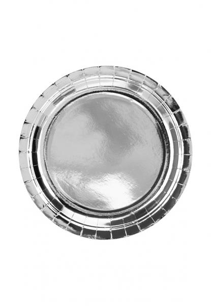 Pappteller Silber Trend