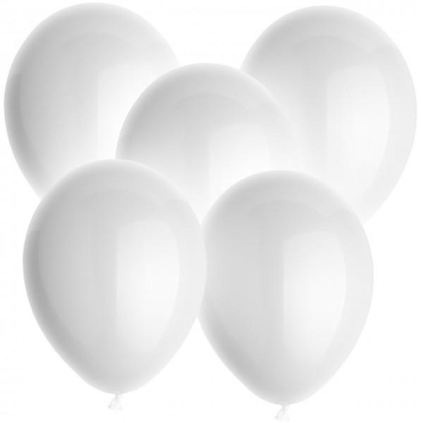 100 Latexballons - Weiß