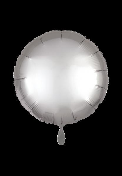 Satin Luxe Rund Silber Folienballon
