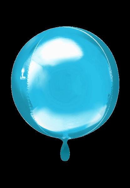 Orbz Folienballon Hellblau