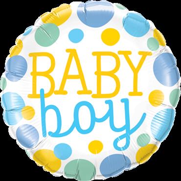 Baby Boy gepunktet - Folienballon