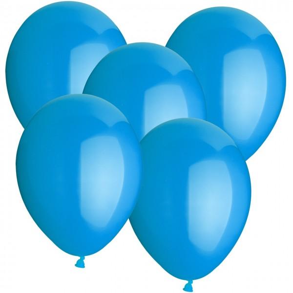100 Luftballons aus Latex - Hellblau