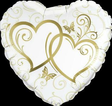 Herzförmig gold Folienballon
