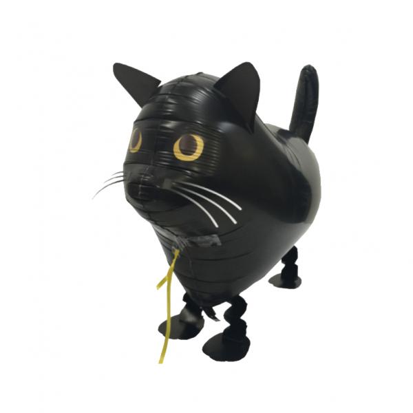 Air Walker - Schwarze Katze - Folienballon