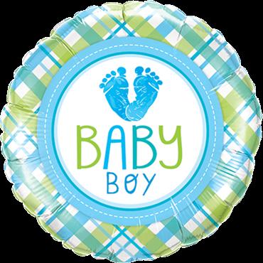 Baby Boy LO (Füße) E Folienballon