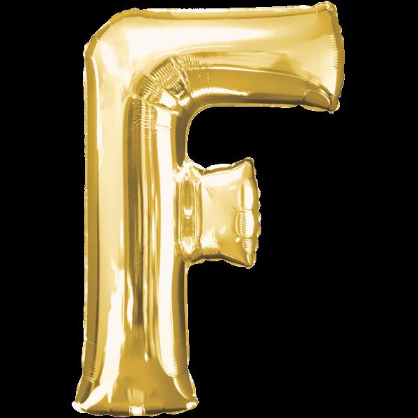 "Buchstabe ""F"" Gold Folienballon"