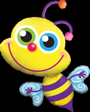 Strahlende Biene Folienballon