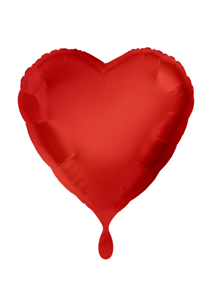 Herz Rot Folienballon