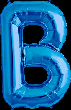 Buchstabe XXL - B - Blau - Folienballon