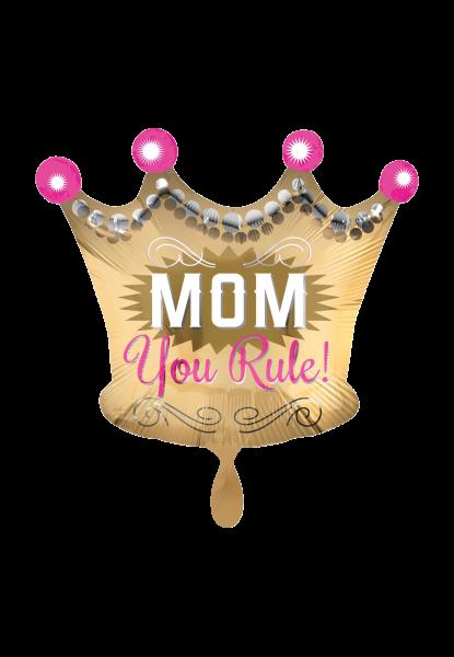 """""""Mom You Rule"""" Folienballon"""