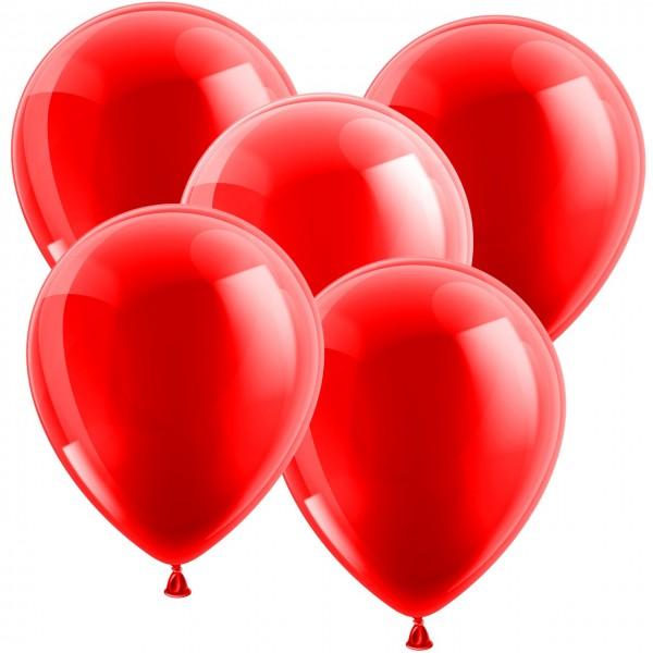 100 Latexballons - Metallic Rot 30cm - Rund