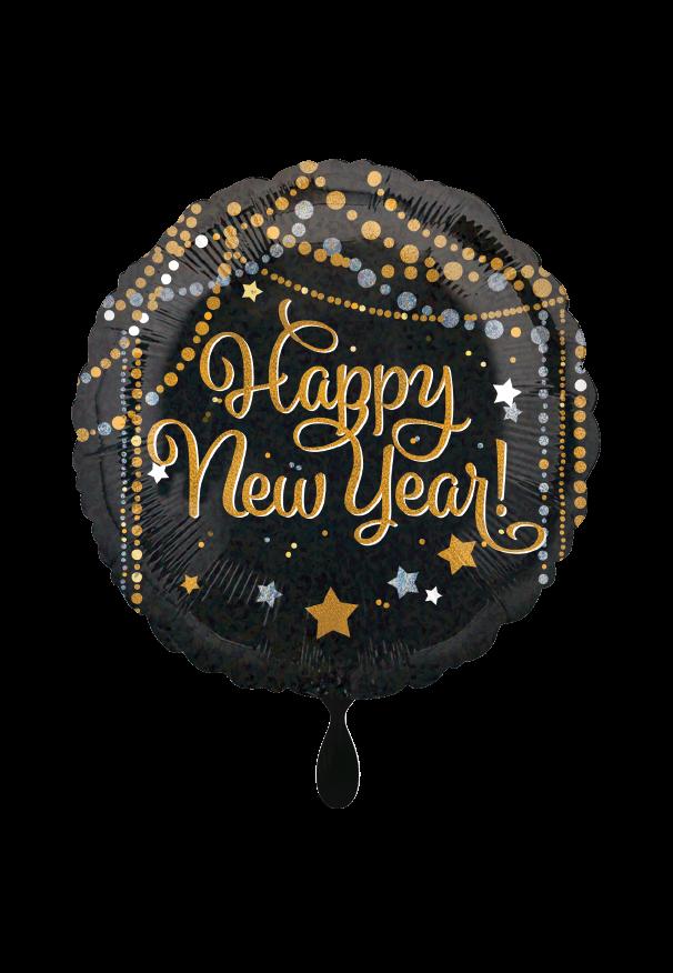 Happy new Year Sparkle Streamers Folienballon