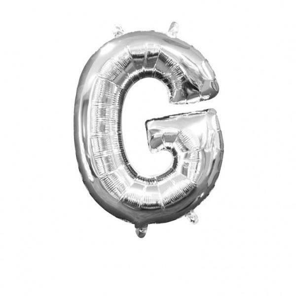 """Buchstabe """"G"""" Silber Folienballon"""