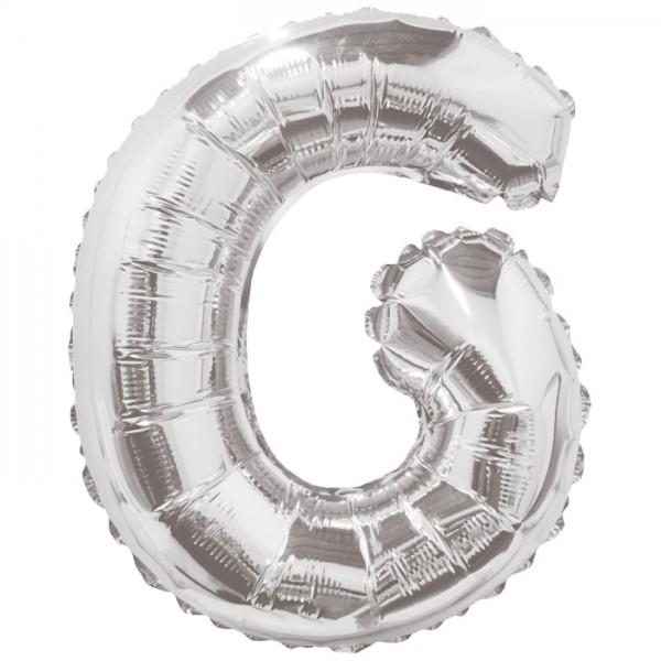Buchstabenballon XXL Silber G