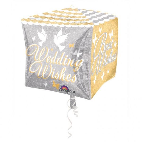 Cubez Shimmering Wedding Wishes Folienballon