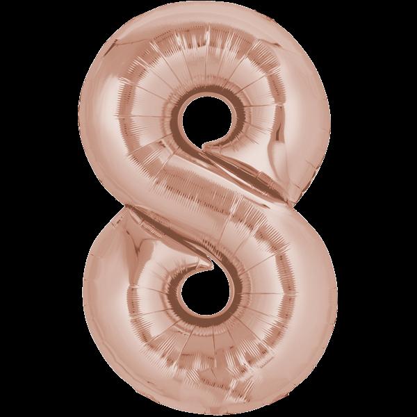 Zahlenballon XXL Roségold 8