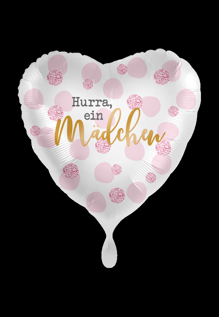 Hurra, ein Mädchen Folienballon