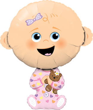 Baby Mädchen Folienballon