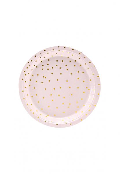 Pappteller Dots Rosa