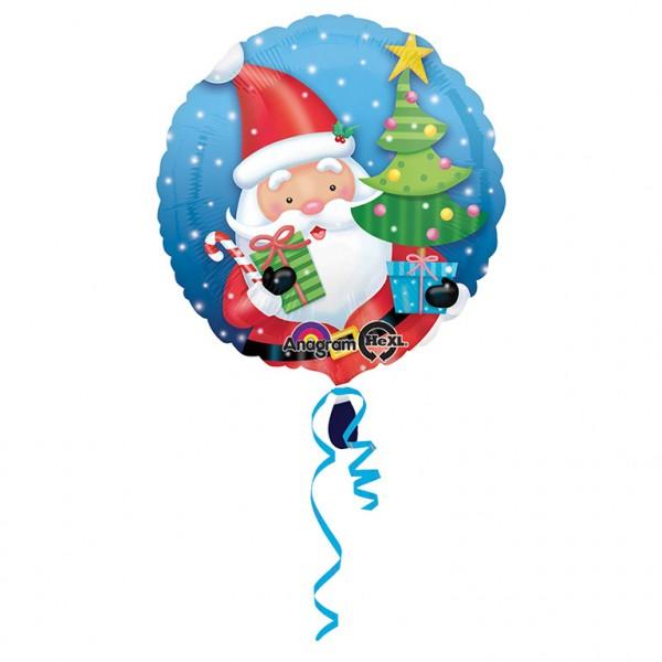 Santa mit Baum Folienballon