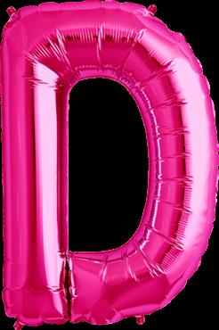 Buchstabenballon Pink XXL D