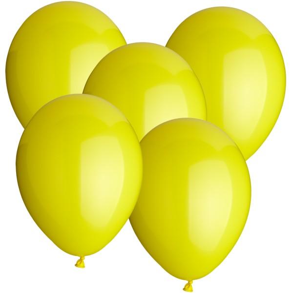 100 Latexballons gelb