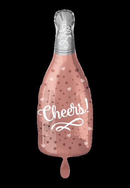 Cheers Rose Folienballon